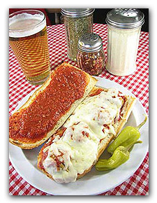 Hot Meatball Sandwiches available from Two Brothers Pizza